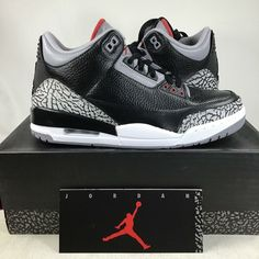 8d3a9182e9a2 (eBay Sponsored) 2011 Air Jordan 3 Black Cement 136064010 Size 9