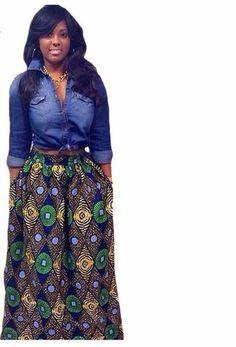 African Print Long Skirt Ankara Dashiki High Waist A Line Maxi Umbrella Skirt Navy Maxi Skirts, Maxi Skirt Style, Printed Maxi Skirts, Flare Skirt, Pleated Maxi, Maxi Dresses, Umbrella Skirt, Style Africain, Thing 1