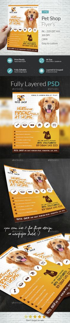 Pet Shop A4 Flyer Template - Flyers Print Templates