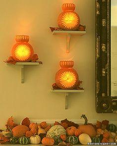 How to Make Starburst Pumpkin Sconces Tutorial.  From Martha Stewart.