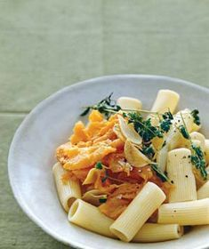 Rigatoni With Sweet Potato, Oregano, and Parmesan recipe from realsimple.com #myplate
