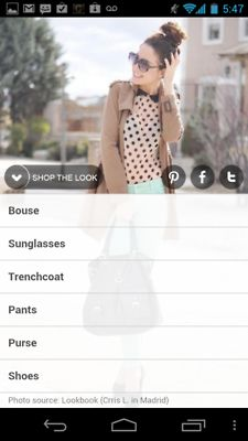 Drag up/drag down navigation in Kaleidoscope app works very smoothly. Swipe right or left to move to new image or go back to get pinterest-style grid view and then tap into looks.