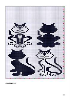 коты, кошки и другие. Knitting Stiches, Knitting Charts, Knitting Patterns, Crochet Patterns, Crochet Cat Pattern, Crochet Cross, Crochet Chart, Free Pattern, Bead Loom Patterns