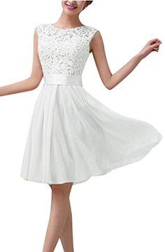 Hochzeitskleid Standesamt Weiss Schlicht Romantisch Spitze Süß