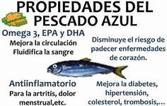 propiedades del pescado azul