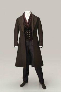 Men's Victorian Wedding Outfit. 1800s. Frock coat, double breasted waist coat, button fly pants, Shirt and Ascot