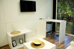 Kącik medialny Rubiloft 24 m2 Cribs, Corner Desk, Container, Loft, Bed, Furniture, Home Decor, Cots, Corner Table