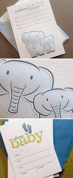elephant birth announcement