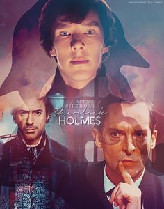 Montage of Holmes'-Robert Downey Jr, Benedict Cumberbatch & the best of all Sherlock's--Jeremy Brett