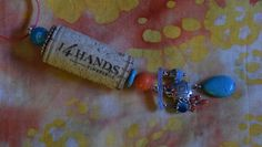 wine cork charm necklace by KelsHopeChest on Etsy