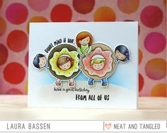 Neat & Tangled-Say Yes to Donuts Card by Laura Bassen.