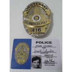"""Frank """"COLUMBO"""" Peter Falk Tv Show 4 Piece Prop Replica Badge Listing in the Reproductions,Props,Television Memorabilia,Entertainment Memorabilia,Collectibles Category on eBid United States Us Military Medals, Police Tees, 60s Tv Shows, Law Enforcement Badges, Peter Falk, Green Hornet, Ipod Touch 5th Generation, Movie Props, Old Tv"""