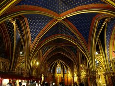 The interior of Sainte-Chapelle (Holy Chapel), a royal medieval Gothic chapel, in the center of Paris. Photo by Brian Kaylor.