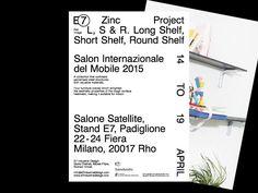"curv: "" Thomas Hervé Studio E7 — 2015 ( Identity, Photos. Douglas Mandry ) — Flyer """