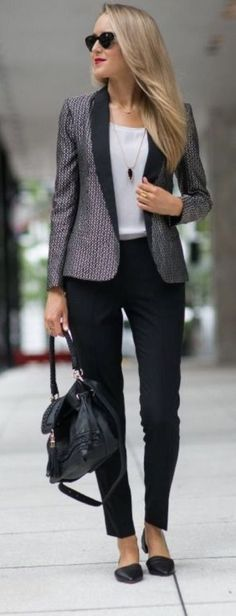 I like outfit but for me the blazer should be longer to cover behind and not sure about shoes