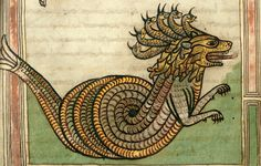 Dragon/Beast. Ger. 9 cent. Valencienne. ms 0099 by tony harrison, via Flickr
