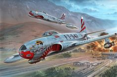 F-80C Shooting Star over Korea Special Hobby box art by Stand Hajek