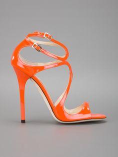 Jimmy Choo High Heel Sandal in Orange | Lyst