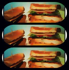 Sandwich  cartoon art By John Foreman