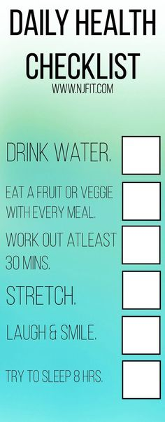 Make it a habit.