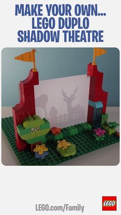 This LEGO DUPLO Shadow Theatre is a great way to teach your little performer abo., LEGO DUPLO Shadow Theatre is a great way to teach your little performer about light and shade, and you can experiment with all different kinds of. Lego Duplo, Lego Toys, Lego For Kids, Diy For Kids, Crafts For Kids, Lego Activities, Toddler Activities, Legos, Diy Pour Enfants