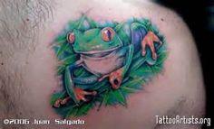 576 x 352 px (49 KB) Tree Frog Tattoos, Green Tree Frog, Tree Frogs, Tattoo Artists, Watercolor Tattoo, Tattoo Ideas, Temp Tattoo