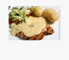 Grilled Chicken with Garlic Cream Sauce - must try! Sounds so Yummy! Ketchup, Sauce Porto, Sauce Au Poivre, Sauces, Sauce Crémeuse, Grilled Chicken, Grilling, Eggs, Meat