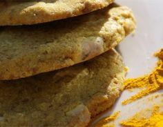 white chocolate and turmeric cookies