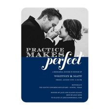 Practice Party Rehearsal Dinner Invitations