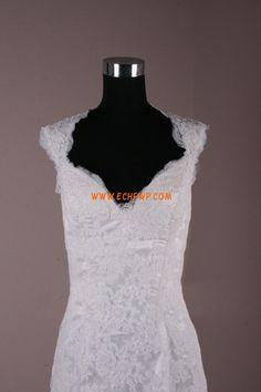 Ramínka Krajka S hlubokým výstřihem na zádech Ruční na míru Svatební šaty