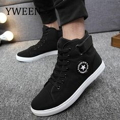 YWEEN Men s Vulcanize Shoes Men Spring Autumn Top Fashion Sneakers Lace-up  High Style Solid Colors Man Shoes 170ed4131862