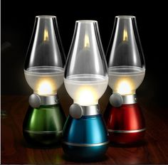 Slim Yet Versatile!  The lamp is just in dimension of 73*73*210mm and weighs in 193g, yet it is highly versatile. It is your perfect companion - at home for a romantic dinner, as a nightlight or a reading light & outdoors for camping, fishing, etc.    Rechargeable For Cordless Use  It is compact & lightweight and is rechargeable through a USB output port or with a power adapter. The built-in battery allows for cordless use, so it is convenient and portable for outdoor use.    Unique…