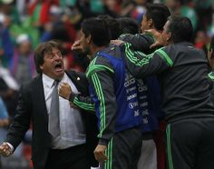 Mexico Soccer Team Wallpaper 2014 | Mexico's coach Miguel Herrera celebrates his team's second goal during ...