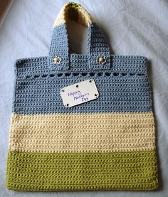 Crocheted Mother's Day bag