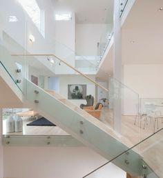 Treppe Glastreppengeländer-schicke Einrichtung