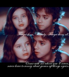 forget them Wendy forget them all. ahaha oh the good old days of peter pan