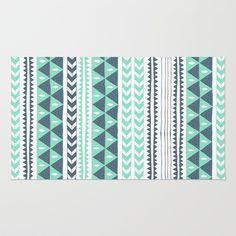 Winter Stripe Rug by Alice Rebecca Potter - $28.00