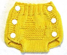 RUBBER DUCK - Diaper Cover Knitting Pattern - PDF - Small