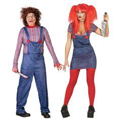 Pareja Disfraces de Muñecos Diabólicos #parejas #disfraces #carnaval