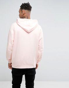 48824c6b407b6 Sudadera extragrande con capucha rosa de