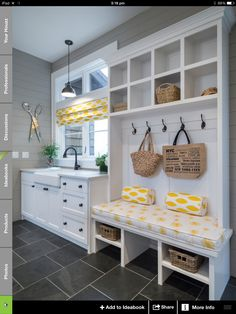 Mud room and laundry combined