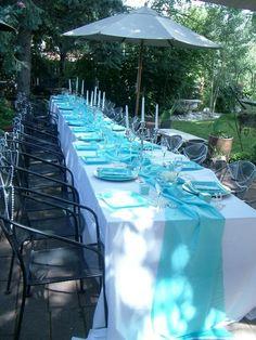 breakfast at tiffany& bridal shower images Tiffany Theme, Tiffany Party, Tiffany Wedding, Tiffany Blue, Bridal Shower Rustic, Bridal Showers, Wedding Rustic, Tiffany's Bridal, Ideas Para Fiestas