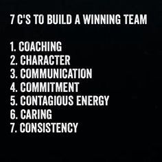 Building a winning team is made up of these 7 C's. You will notice that coaching is right at the top. Do you embrace coaching as part of building a winning team? How do you apply this? Does your organisation make use of internal or external coaches? Leadership Tips, Leadership Development, Quotes About Leadership, Leadership Assessment, Nursing Leadership, Student Leadership, Leadership Qualities, Personal Development, Quotes To Live By