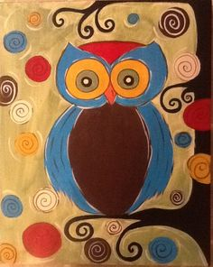 'Retro Owl' from The Zivery Art Studio