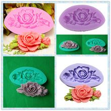 2016 3D Rose Flower Silicone Fondant Mold Chocolate Cookie Soap Cutter Sugarcraft Cake Decorating Tools DIY Kitchen Baking Mould(China (Mainland))