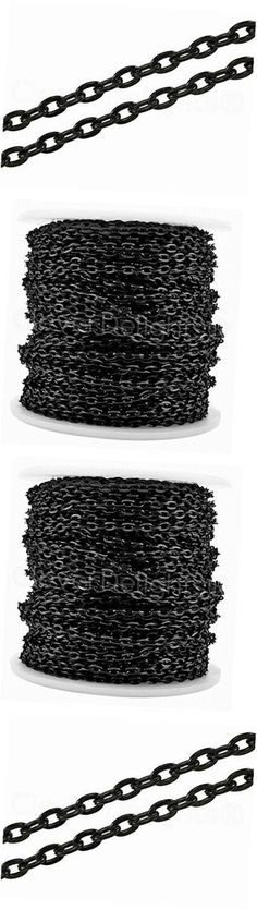 Chains 150069: Cable Chain Spool - 100 Feet - Dark Black Color - 3X4mm Link - Bulk Rolo Chain -> BUY IT NOW ONLY: $36.13 on eBay!