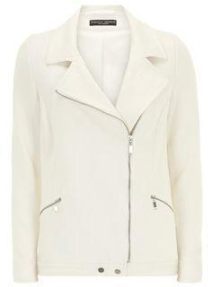 Ivory zip crepe biker jacket - Jackets & Coats  - Clothing