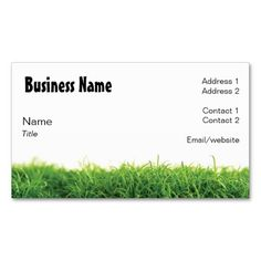 lawn care business card - Lawn Service Business Cards