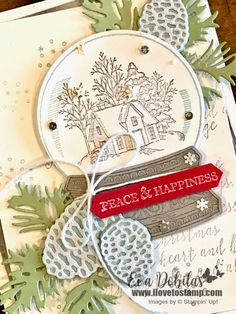 Stampin Up Christmas, Christmas Cards, Globe Image, Base Image, Ink Pads, Embossing Folder, Christmas Projects, Stampin Up Cards, Be Still