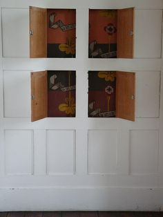 Hidden compartments in the paneling at The Red House, designed by Phillip Webb.